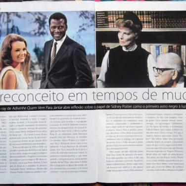 Artigo sobre Advinha quem vem para Jantar? Revista Preview, set/13