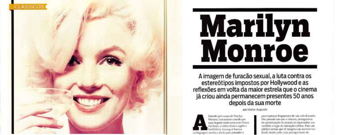 50 anos sem Marilyn Monroe. Revista Monet, jun/12