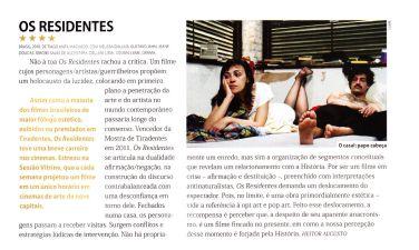 Resenha de Os Residentes. Revista Preview, abr/13
