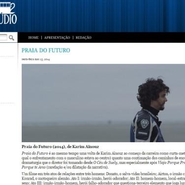 Crítica de Praia do Futuro. Revista Interlúdio. Mai/14 (http://goo.gl/DtNVld)