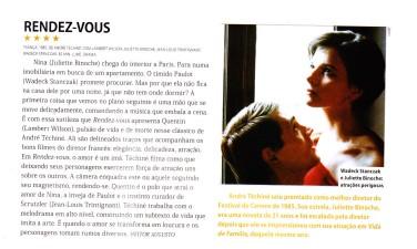 Resenha de Rendez-vous. Revista Preview, dez/12